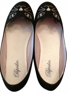 Paprika Charlotte Olympia Adorable Cute Cat Dupe Chocolate Suede New 8 Brown Flats