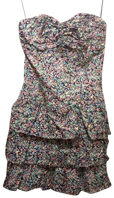 Preload https://img-static.tradesy.com/item/30033/express-purplemultifloral-strapless-cotton-with-ruching-and-ruffles-short-casual-dress-size-4-s-0-1-650-650.jpg