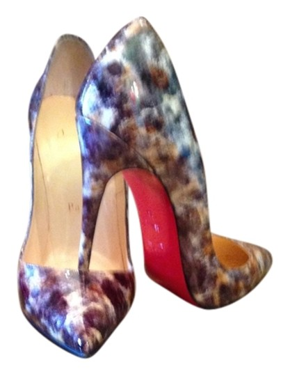 Christian Louboutin So Kate Red Bottom Navy Blue Multi Color Pumps