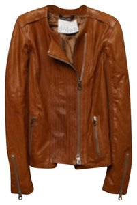 Dolan Leather Moto Motorcycle Brown/Cognac Leather Jacket