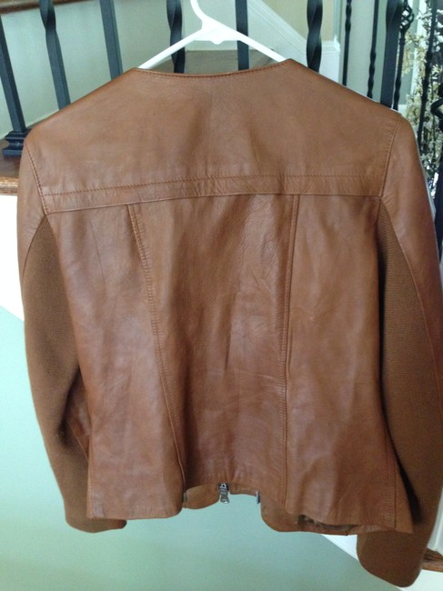 Dolan Moto Motorcycle Vince Brown/Cognac Leather Jacket