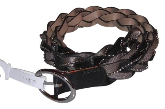 Relic Relic Gray Black Python Faux Leather Braided Belt Size M New