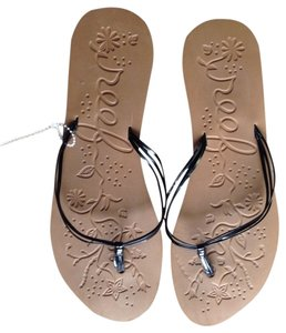 Reef New black tan Sandals