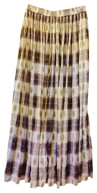 Hunt Club Skirt Brown/tan/off-white/black