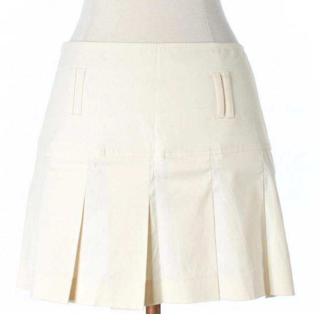 Theory Pleated Khaki Mini Skirt Beige