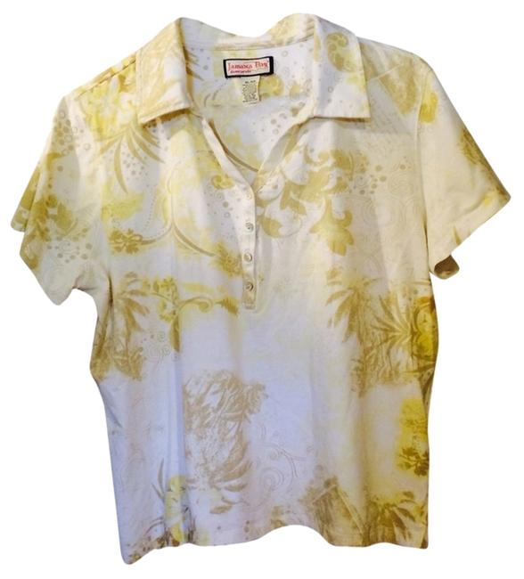 Jamaica Bay T Shirt Tan/yellow/off-white