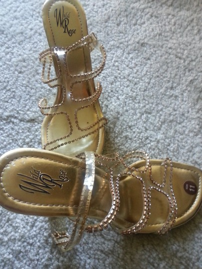 Other Clear and Gold Sandals