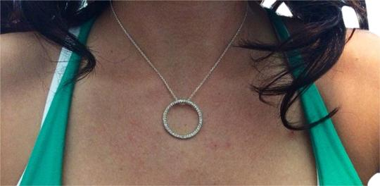 Preload https://item3.tradesy.com/images/unknown-sterling-silver-circle-necklace-3004642-0-0.jpg?width=440&height=440