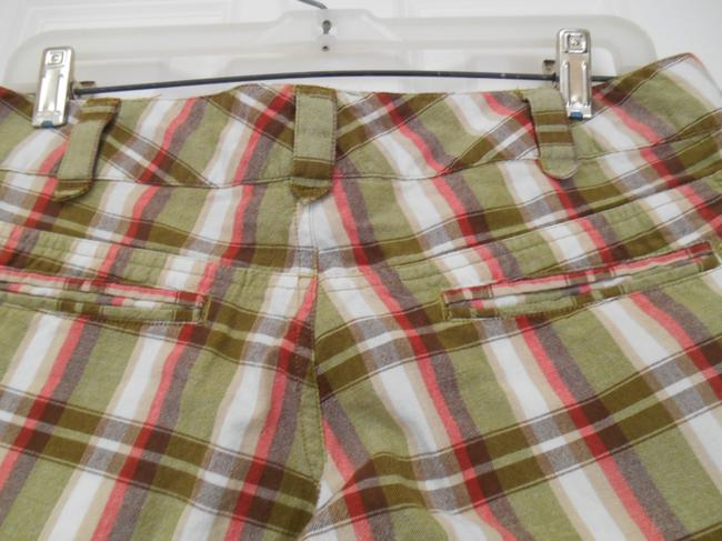 """Billabong Earthy Colors Board Bermuda Juniors 3 30 30"""" Waist 30 X 10 Summer Beach Camping Camp Hike Hike Pockets Hike Edgy 8 Shorts Plaid in White, Olive, Brown, Coral and Tan"""