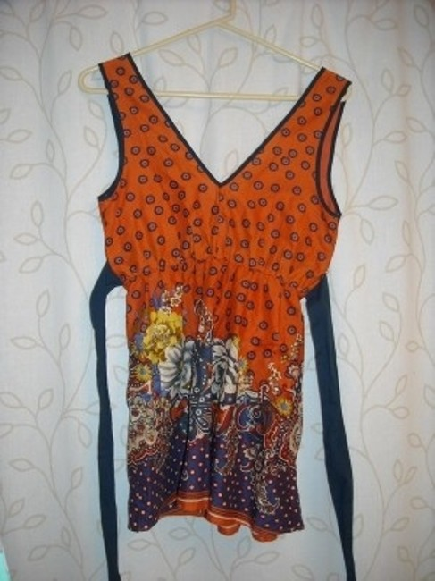 Forever 21 Top Orange and Blue