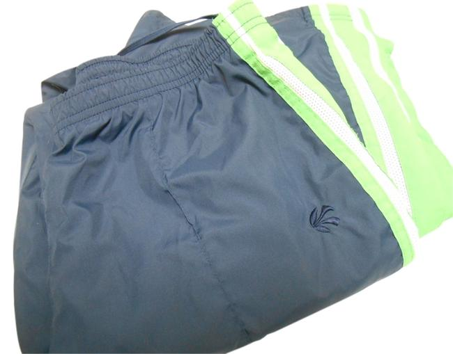 Old Navy Old Wind Running Jogging Warm-up Basketball Polyester Mesh Lined Zip Ankles Back Pocket Sweats Run Pull On Drawstring Athletic Pants Navy and Green and White