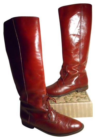 Maria Pia Vintage Leather Hcs burgandy Boots