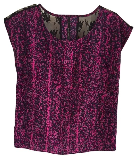 Audrey Top Pink Multi Black