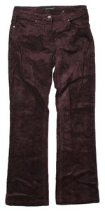 Elie Tahari Plush Corduroy Trouser Pants Brown