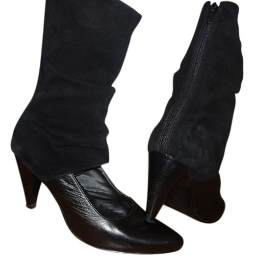 100% Colombian leather and Suede black Boots