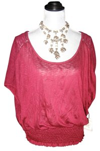Free People Fp Shirt Shirt Red Shirt Top LACE