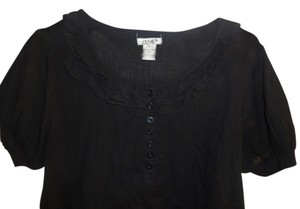 Crystal Sugar Top black