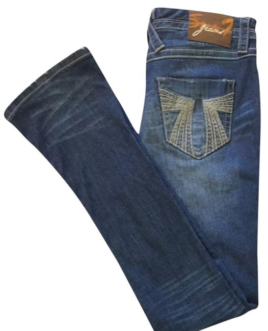7 For All Mankind Bootcut Casual Straight Leg Jeans-Medium Wash