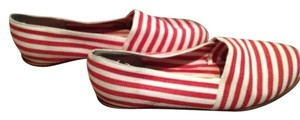 Liz Claiborne Red and white Flats