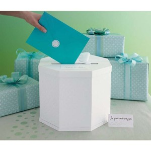 Martha Stewart White Eyelet Card Box