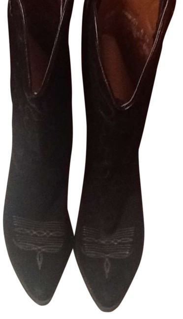 Item - Black Western Boots/Booties Size US 8 Extra Wide (Ww, Ee)