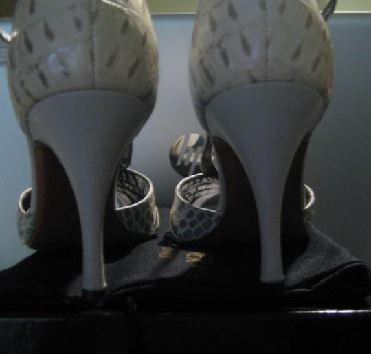 Donald J. Pliner Ice Baby Calf/Ice Gator Pumps