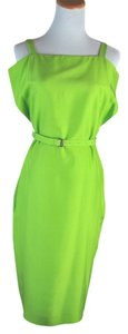 Bottega Veneta short dress Lime Green Belted on Tradesy