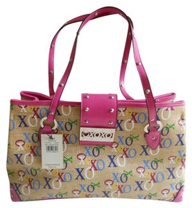 XOXO Faux Leather Straw Multicolored Handbag Shoulder Bag