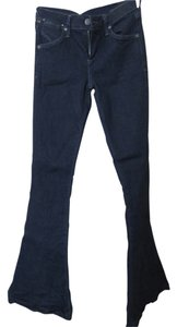 Citizens of Humanity Stylish Flattering Designer Flare Leg Jeans-Dark Rinse