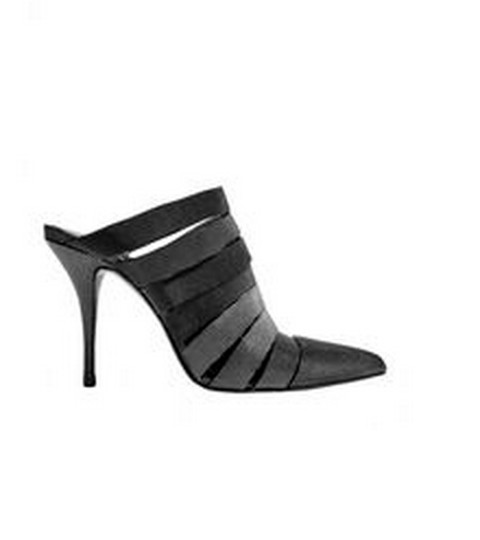 Alexander Wang Carbon (black leather with metallic pinpricks) Mules