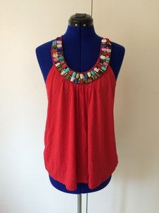 Forever 21 Top Red, multi color