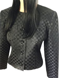 Talbots Evening Checkered Satin Holiday Christmas Party Events Date Night Night Out Travel Luxury Feminine Sexy Vacation Black Jacket