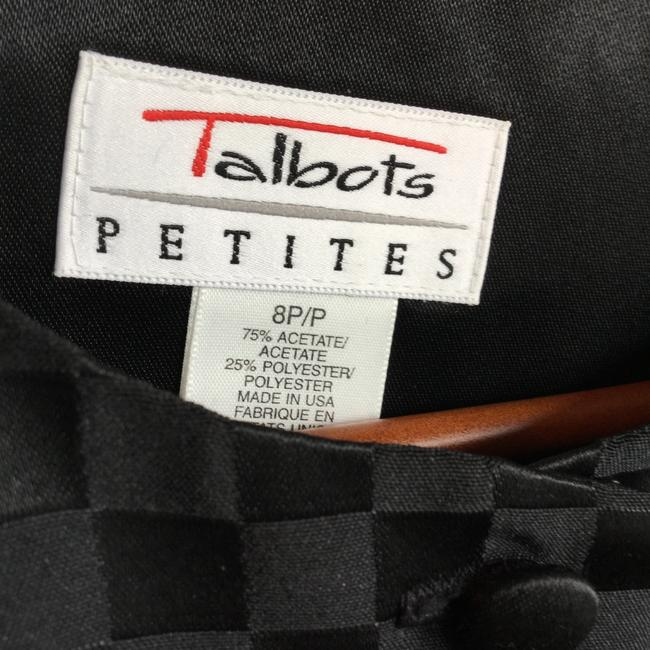 Talbots Evening Checkered Satin Holiday Christmas Party Events Date Night Night Out Travel Luxury Feminine Sexy Vacation Cruise Black Jacket