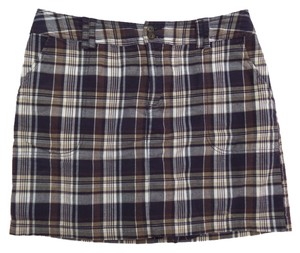 Other St John's Bay Skort Black, Brown & White Plaid