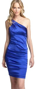 Nicole Miller Satin One Shoulder Sexy Going Out Date Night Satin Wedding Party Dress