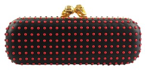 Alexander McQueen Red and Black Clutch