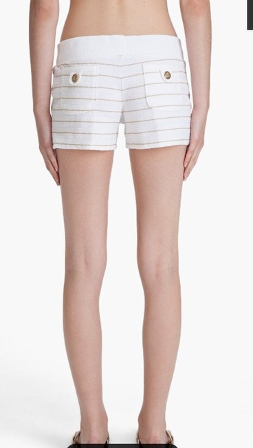 Juicy Couture Shorts White and Gold