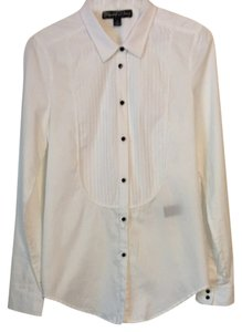 Elizabeth and James Buttondown Professional Button Down Shirt White