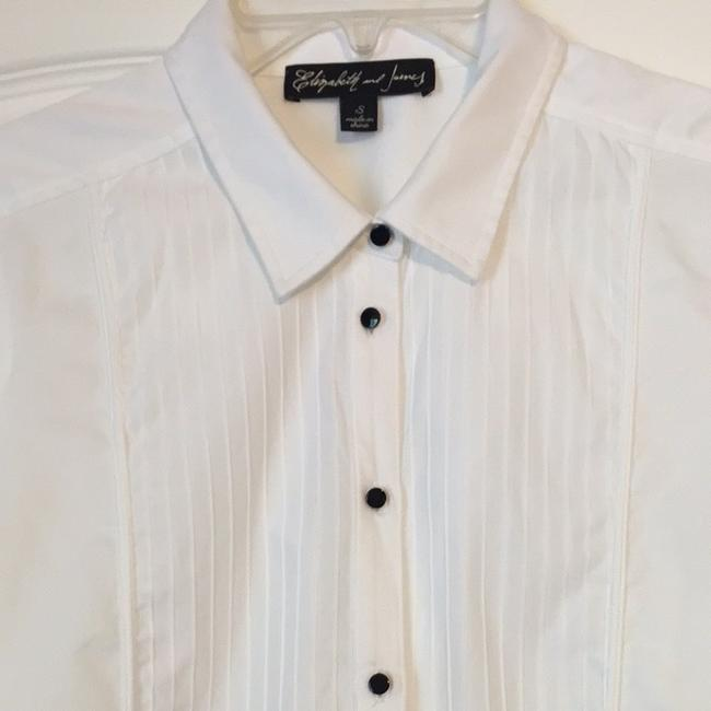Elizabeth and James Professional Cute Daily Button Down Shirt White