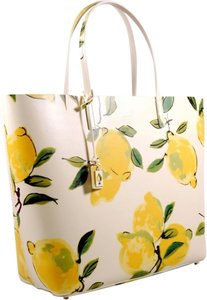 Kate Spade Tote in Lemon Green and Cream