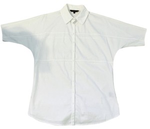 Cynthia Steffe Baggy Loose Button Down Shirt White