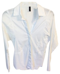 BCBGMAXAZRIA Csusal Buttondown Work Daily Button Down Shirt White