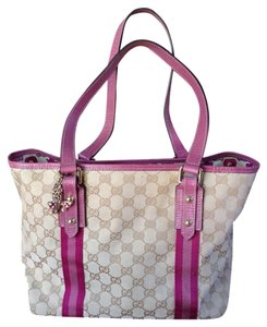 Gucci Tote in Beige/pink & Light Pink Straps