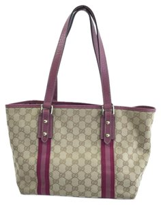 Gucci Canvas Monogram Tote in Beige