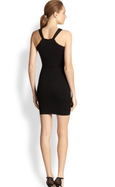 Torn by Ronny Kobo Black Sexy with Mesh Detail Short Night Out Dress Size 0 (XS) Torn by Ronny Kobo Black Sexy with Mesh Detail Short Night Out Dress Size 0 (XS) Image 2