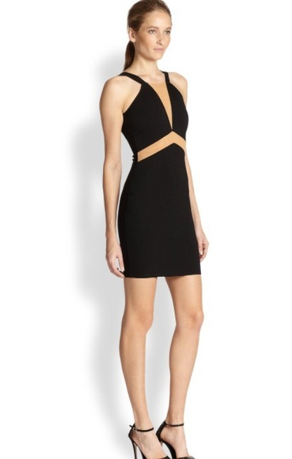 Torn by Ronny Kobo Black Sexy with Mesh Detail Short Night Out Dress Size 0 (XS) Torn by Ronny Kobo Black Sexy with Mesh Detail Short Night Out Dress Size 0 (XS) Image 3