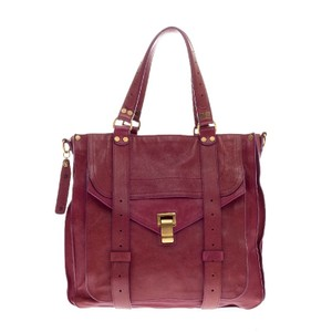 Proenza Schouler Leather Tote in Magenta