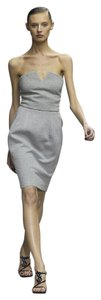 Saint Laurent short dress Yves Saint Laurent Grey 2008 Runway Bustier Size on Tradesy