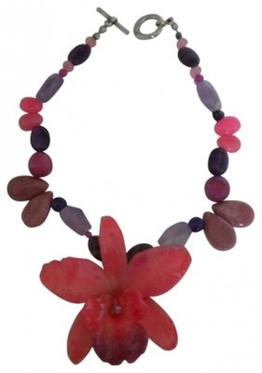 Preload https://item2.tradesy.com/images/pinks-purples-orchid-flower-stone-necklace-30101-0-0.jpg?width=440&height=440