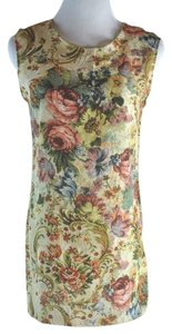 Dolce&Gabbana Tapestry Floral Print Silk T Shirt Multi-color